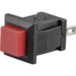 Tlačidlo TRU COMPONENTS TC-R13-57A-02RT, 250 V/AC, 0.5 A, červená, 1 ks