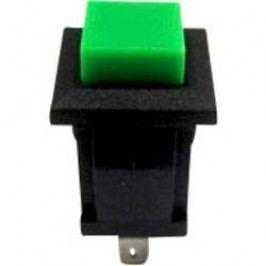 Tlačidlo TRU COMPONENTS TC-R13-57A-05GN, 250 V/AC, 0.5 A, zelená, 1 ks