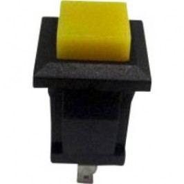 Tlačidlo TRU COMPONENTS TC-R13-57A-05YL, 250 V/AC, 0.5 A, žltá, 1 ks