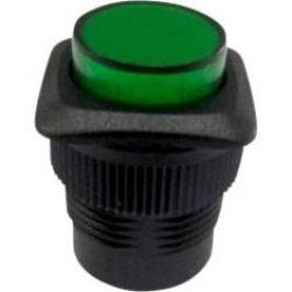 Tlačidlový spínač TRU COMPONENTS TC-R13-508B-05YL, 250 V/AC, 1.5 A, zelená, 1 ks