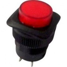 Tlačidlový spínač TRU COMPONENTS TC-R13-508BL-05RT, 250 V/AC, 1.5 A, červená, 1 ks