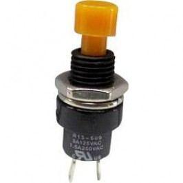 Tlačidlo TRU COMPONENTS TC-R13-509A-05YL, 250 V/AC, 1.5 A, žltá, 1 ks