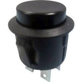 Tlačidlový spínač TRU COMPONENTS TC-R13-527B-02BK, 250 V/AC, 6 A, čierna, 1 ks