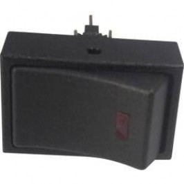 Kolískový spínač do auta TRU COMPONENTS TC-R13-207L-SQ RED 12V/DC, 12 V/DC, 20 A, s aretáciou, 1 ks