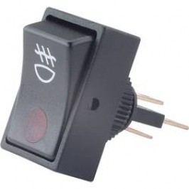 Kolískový spínač do auta TRU COMPONENTS TC-R13-207B2 RED, 12 V/DC, 20 A, s aretáciou, 1 ks
