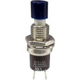 Tlačidlo TRU COMPONENTS TC-R13-24B1-05 BL, 250 V/AC, 1.5 A, modrá, 1 ks