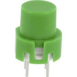 Impulzné tlačidlo TRU COMPONENTS TC-D6GN, 35 V/DC, 0.01 A, zelená, 1 ks