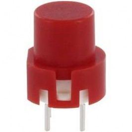 Impulzné tlačidlo TRU COMPONENTS TC-D6RT, 35 V/DC, 0.01 A, červená, 1 ks