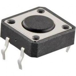 Impulzné tlačidlo TC-12XD-X, 12 V/DC, 0.05 A, čierna, 1 ks