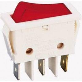 Kolískový spínač s aretáciou B116C1G00000, 250 V/AC, 16 A, 1x vyp/zap, Farba svetla: červená, 1 ks