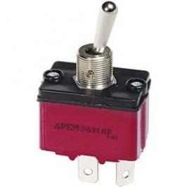Izolovaný pákový spínač APEM 3639NF/2 / 36391200, 250 V/AC, 6 A, 1x zap/vyp/zap, 1 ks