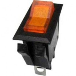 Kolískový spínač SCI R13-72B-01 s aretáciou 250 V/AC, 10 A, 1x vyp/zap, čierna, žltá, 1 ks