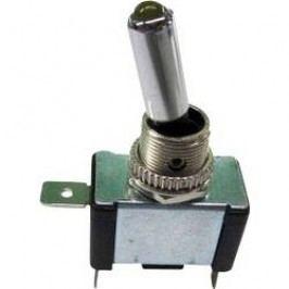 Páčkový prepínač do auta SCI R13-404-SQ YELLOW, 12 V/DC, 20 A, s aretáciou, 1 ks