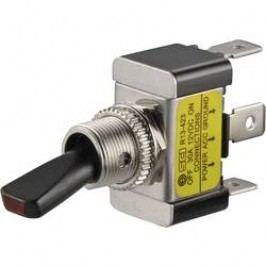 Páčkový prepínač do auta SCI R13-423L GREEN, 12 V/DC, 30 A, s aretáciou, 1 ks