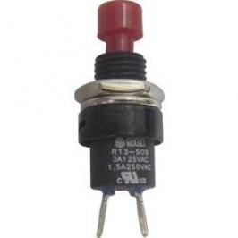 Tlačidlo SCI R13-509A-05RT, 250 V/AC, 1.5 A, červená, 1 ks