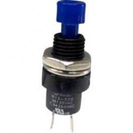 Tlačidlo SCI R13-509A-05BL, 250 V/AC, 1.5 A, modrá, 1 ks