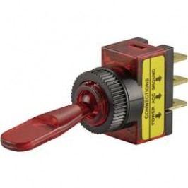 Páčkový prepínač do auta SCI R13-61B ILLUMINATED RED, 12 V/DC, 20 A, s aretáciou, 1 ks