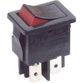 Kolískový spínač s aretáciou Arcolectric H8550XBAAA, 250 V/AC, 10 A, 2x vyp/zap, 1 ks