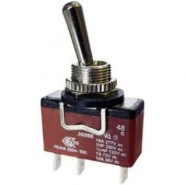 Pákový spínač Arcolectric C3922BEAAA, 250 V/AC, 10 A, 1x (zap)/vyp/(zap), IP67, 1 ks