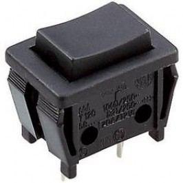 Tlačidlo SCA58406A11000, 250 V/DC, 5 A, čierna, 1 ks