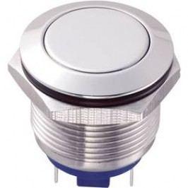 Stláčacie tlačidlo s ochranou pred vandalmi TRU COMPONENTS GQ19F-10/J/S, 48 V/DC, 2 A, nerezová oceľ, 1 ks