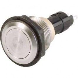 Stláčacie tlačidlo s ochranou pred vandalmi Arcolectric T0916VAAAA, 250 V/AC, 0.5 A, nerezová oceľ, 1 ks