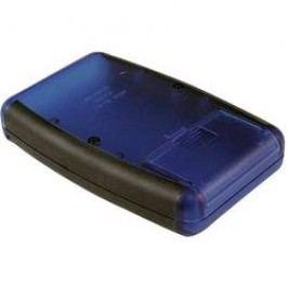 Plastová krabička Hammond Electronics 1553DBKBAT, 147 x 89 x 25 mm, ABS, čierna, svetlo sivá (RAL 7035), 1 ks