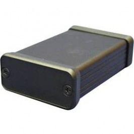 Profilové puzdro Hammond Electronics 1455K1601BK 1455K1601BK, 162 x 78 x 43 , hliník, čierna, 1 ks