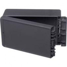 Puzdro na stenu, inštalačná krabička Bopla Bocube B 221309 PC-V0-7024 96015234, 125 x 231 x 90 , polykarbonát, sivá grafit (RAL 7024), 1 ks