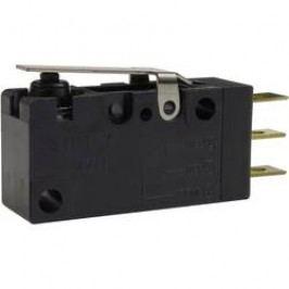Mikrospínač - rovná kovová páka Zippy VW1-P1S1-01D3-Z, 250 V/AC, 0.1 A