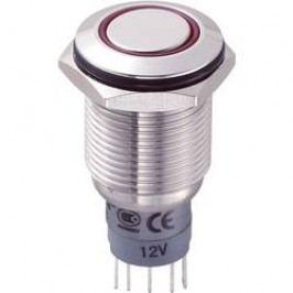 Stláčacie tlačidlo s ochranou pred vandalmi TRU COMPONENTS LAS2GQF-11E/R/12V/S/P, 250 V/AC, 3 A, nerezová oceľ, 1 ks