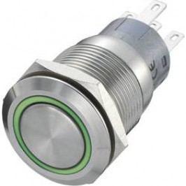 Stláčacie tlačidlo s ochranou pred vandalmi TRU COMPONENTS LAS1-AGQ-11E/R-G, 250 V/AC, 5 A, nerezová oceľ, 1 ks