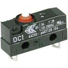 Mikrospínač - tŕň Cherry Switches DC1B-A1AA, 250 V/AC, 6 A, IP67