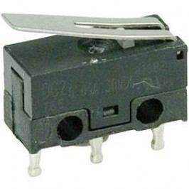 Mikrospínač - rovná kovová páka Cherry Switches DG23-B1LA, 30 V/DC, 0.05 A