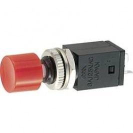 Tlačidlový spínač Miyama DS-409, RD, 125 V/AC, 3 A, červená, 1 ks