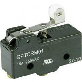Mikrospínač - páka s valčekom Cherry Switches GPTCRM01, 250 V/AC, 15 A