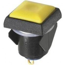 Tlačidlový spínač APEM IQC1S452, 24 V/DC, 0.1 A, žltá, 1 ks