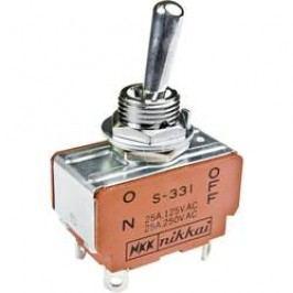 Pákový spínač NKK Switches S338, 125 V/AC, 15 A, 1 ks