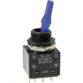Pákový spínač NKK Switches TL22SNAG016G, 250 V/AC, 3 A, 1 ks