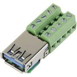 USB zásuvka, USB-AFT-2, horizontálne, vstavaná, USB 3.0